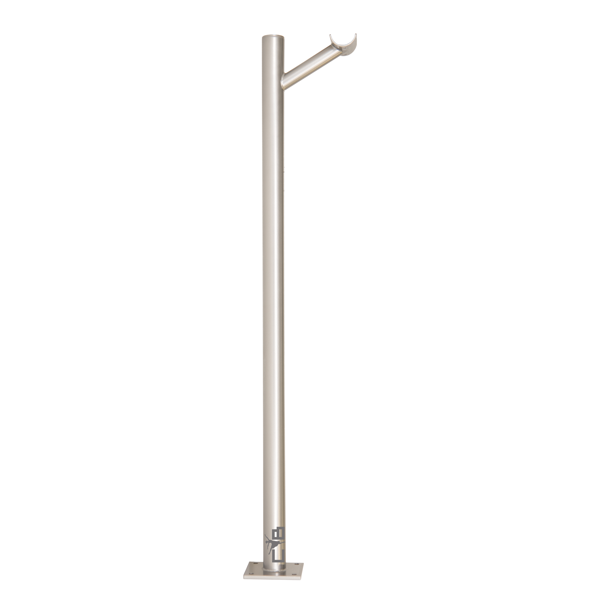 SINGLE FRAPPE ~ Single Floor Mounted Ballet Barre Bracket