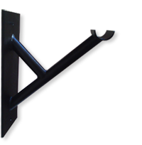 double wall mounted ballet barre bracket